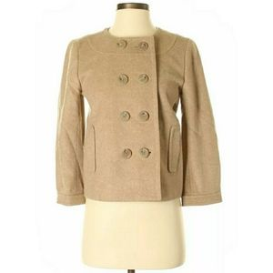 J.Crew Double Breasted Felted Wool Pippa Crop Coat